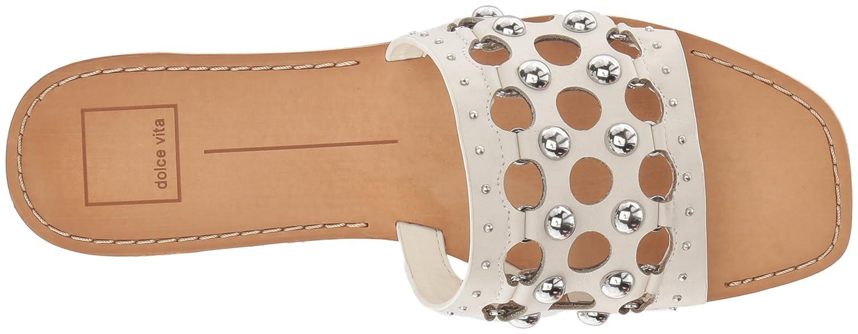 Dolce Vita Women's Celita Slide Sandal B079QCJTR9 7 B(M) US|Off White Leather