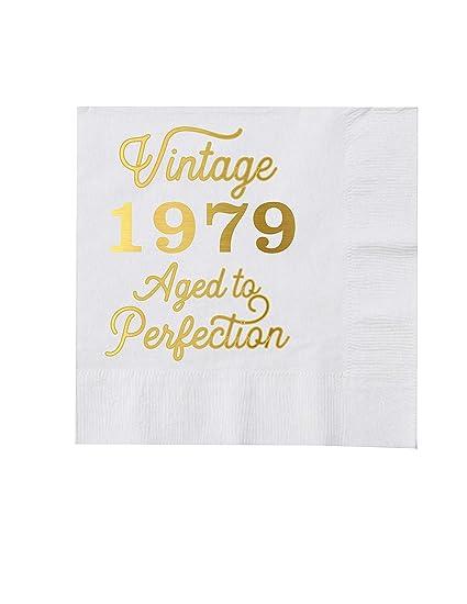 Servilletas de cóctel blanco vintage 1979 - Juego de 25 - 40 ...