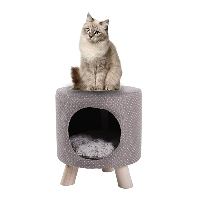 Dporticus Cat Condo Pet Supplies Cave Shape Bed For Cats And Small Dogs With A Soft Cushion by Dporticus