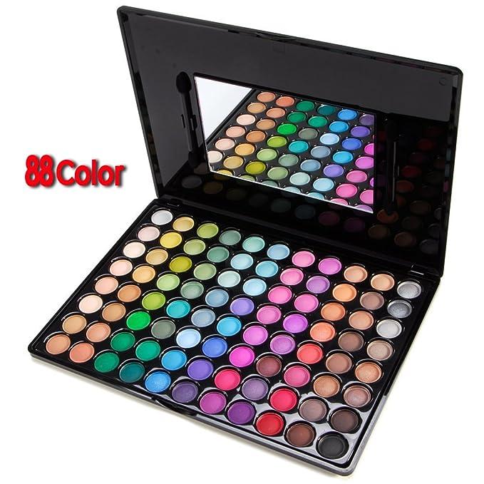 Paleta Sombra de Ojos 88 Colores Cosmética Maquillaje Moda ...