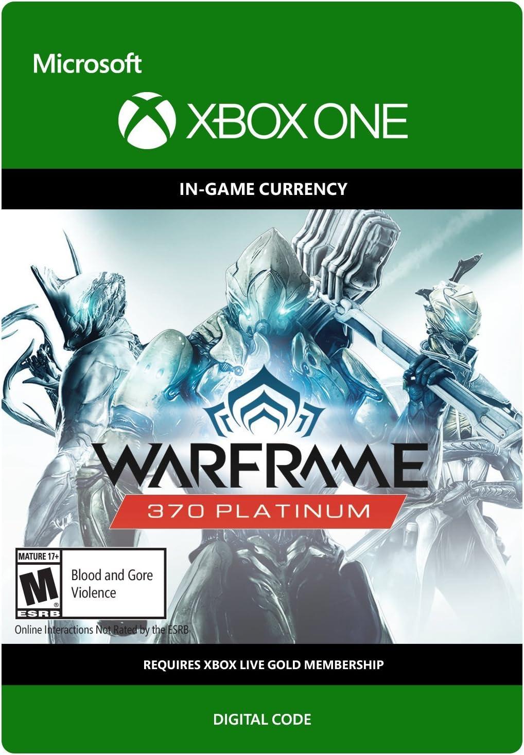 Amazon com: Warframe: 370 Platinum - Xbox One Digital Code