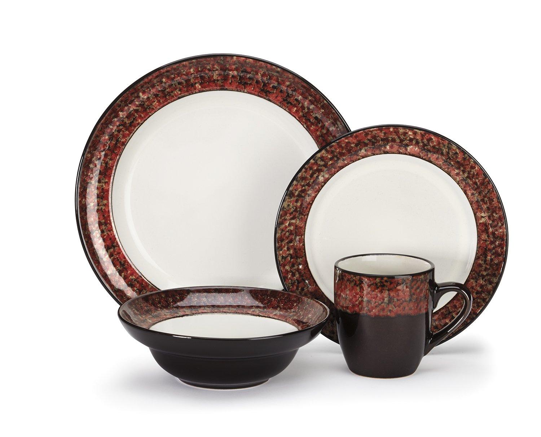 Amazon.com Cuisinart Stoneware Anais Collection 16-Piece Dinnerware Sets Kitchen \u0026 Dining  sc 1 st  Amazon.com & Amazon.com: Cuisinart Stoneware Anais Collection 16-Piece Dinnerware ...