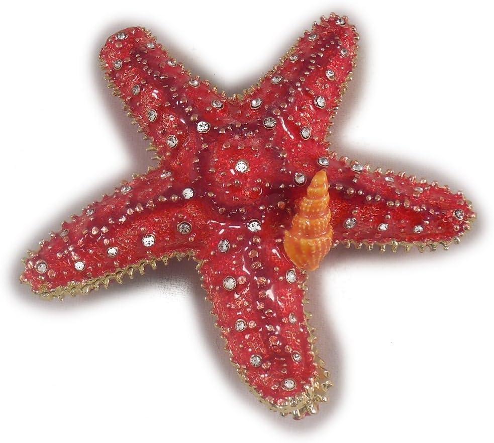 Mirror and Starfish Trinket Rose Quartz Jewelry Pink SeaGlass Gift Box