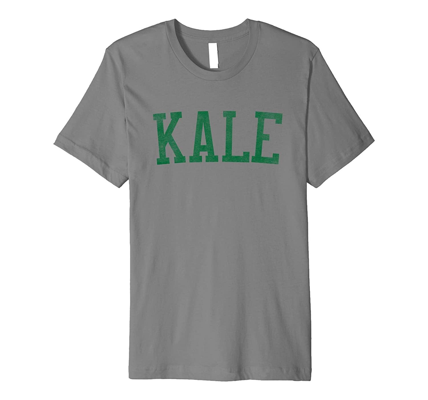 Kale College University Varsity Vegan Paleo Veg T-shirt-CD