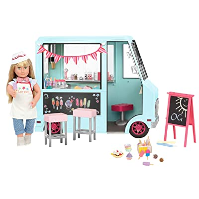 "Our Generation Dolls Sweet Stop Ice Cream Truck for Dolls, 18"": Toys & Games"