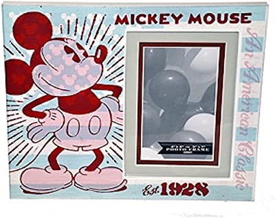 """Disney Parks Picture Frame Mickey Mouse Est. 1928 Wood 4""""x6"""" or 5''x7''"""