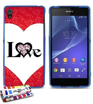 Amazon.com: GENUINE Extra-Slim flexible Blue Case Love-coeur ...