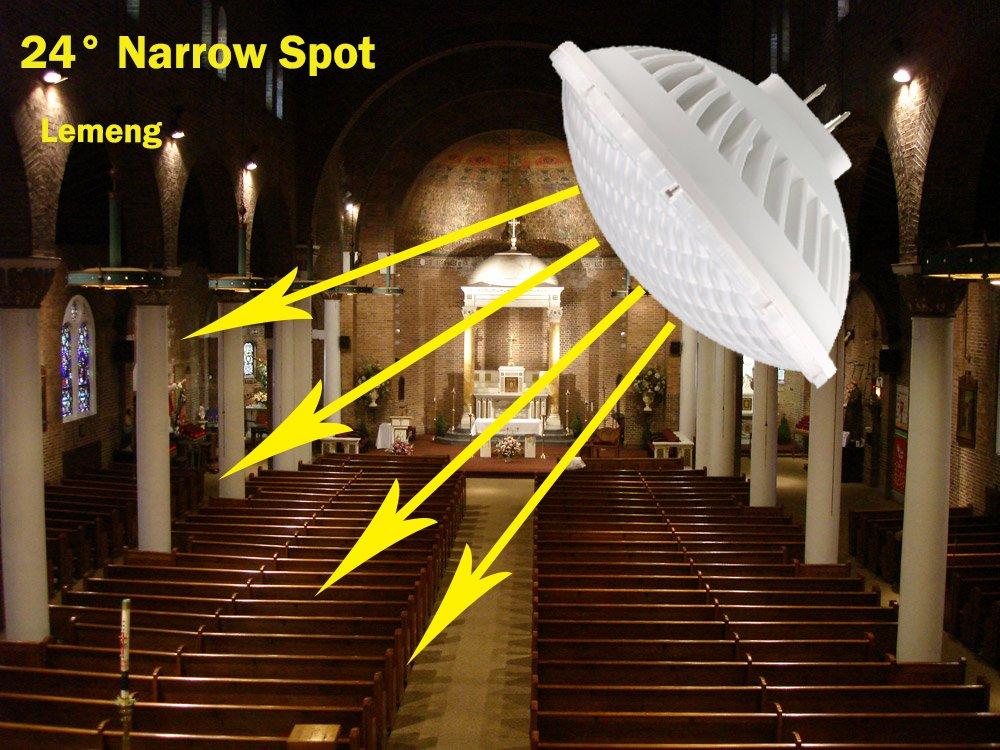 LeMeng Par56 LED Bulb Dimmable 28W Warm White Spot Light 2700 3000K NSP 24Beam Angle GX16D Base Replace Par 56 300W Halogen