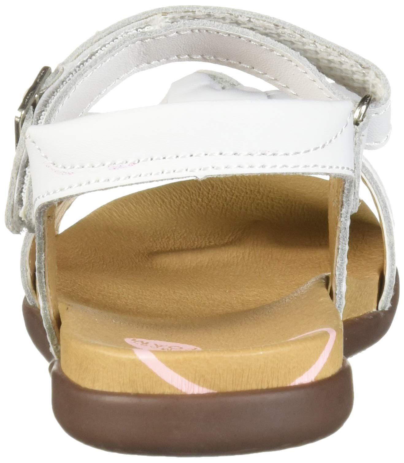 Stride Rite SRTech Savannah Girl's Sandal, White, 9 M US Toddler by Stride Rite (Image #2)