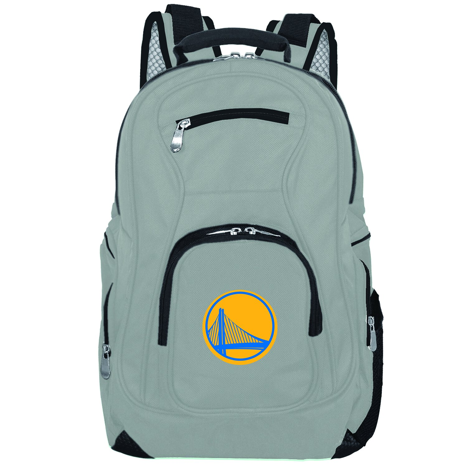 NBA Golden State Warriors Voyager Laptop Backpack, 19-inches, Grey by Denco