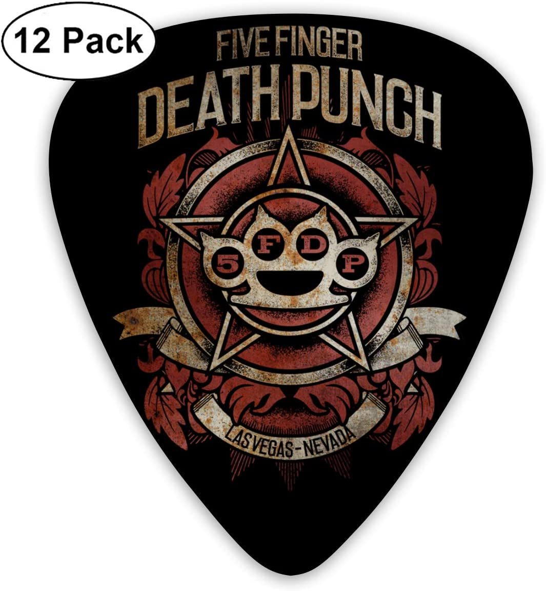 Five Finger Death Punch Guitar Picks Acoustic Guitar 12 Pack For Electric Guitar Mandolin And Bass