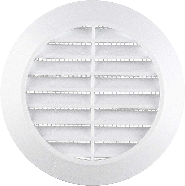AWENTA Grille de ventilation en plastique ABS Rond Blanc /Ø 80//105 mm