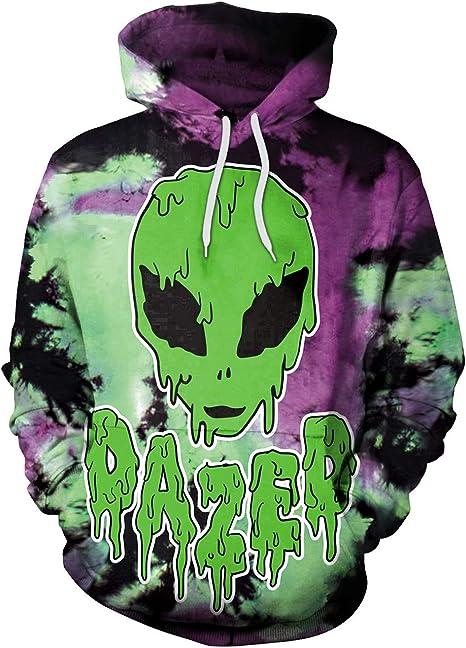 Zhuxin Invierno Hip-hop Punk Purple Green Alien Mujeres