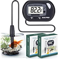 RISEPRO Aquarium Thermometer, 2 pack Digital Water Thermometer For Fish Tank Aquarium Marine Temperature Vivarium Reptile Terrarium TM-4-x2