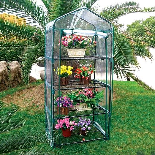 XY&CF-Flower house Planta de Invernadero de Acero Inoxidable con Soporte de PVC Cubierta de jardín de Invernadero (71 * 51 * 162 cm): Amazon.es: Hogar