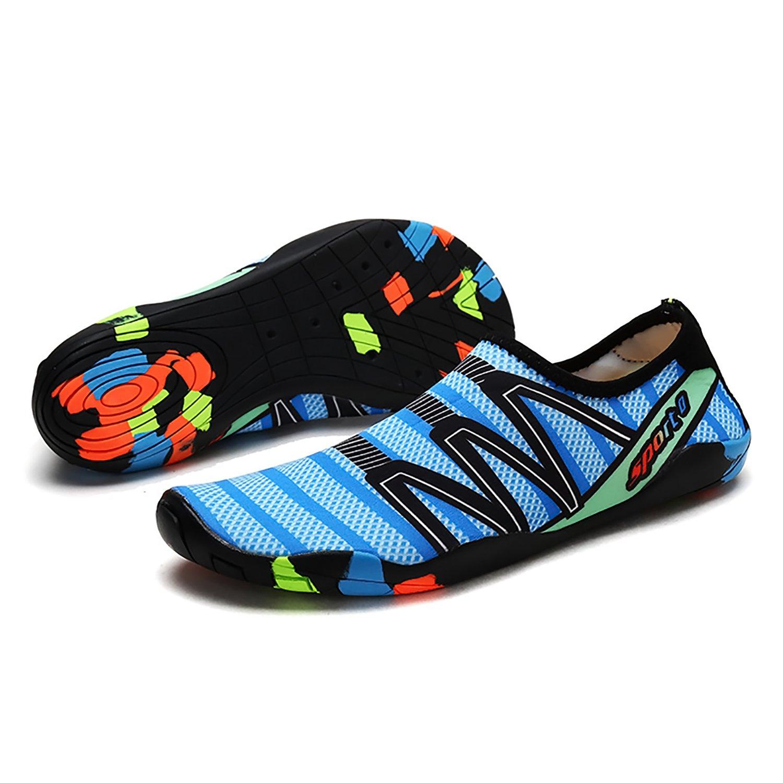 EMMMMMM Mens Womens Unisex Kids Summer Water Shoes Barefoot Shoe Quick Dry Aqua Socks Run Dive Surf Swim Beach Yoga B07CWCP62N 6.5 D(M) US|Granularblue