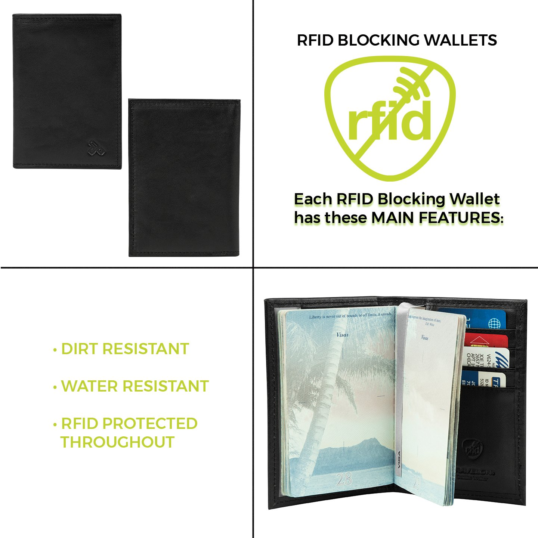 Black One Size 72020-Black-One Size Travelon RFID Blocking Passport Case