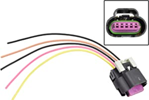 ICT Billet Wire Connector Pigtail LS Gen 4 MAF Mass Air Flow Intake Air IAT Sensor Truck Tube Style Wiring Compatible with GM RPO codes 2007-2009 4.8 5.3 L76 LY2 LY5 WPMAF40