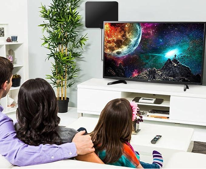 Antenas de Television 4K 1080P Digital Antena tv Interior 50+ millas Largo Alcance con 4M Cable de Antena-Nunca Pague Tarifas.: Amazon.es: Electrónica