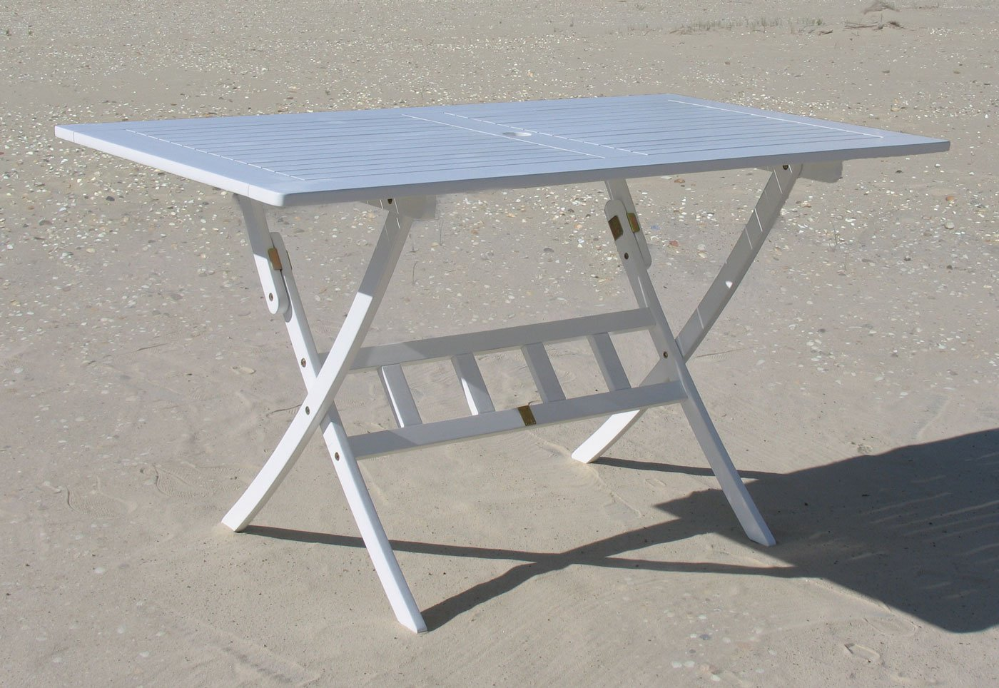 Gartenklapptisch 140x80cm Klapptisch Tisch Santos Weiss