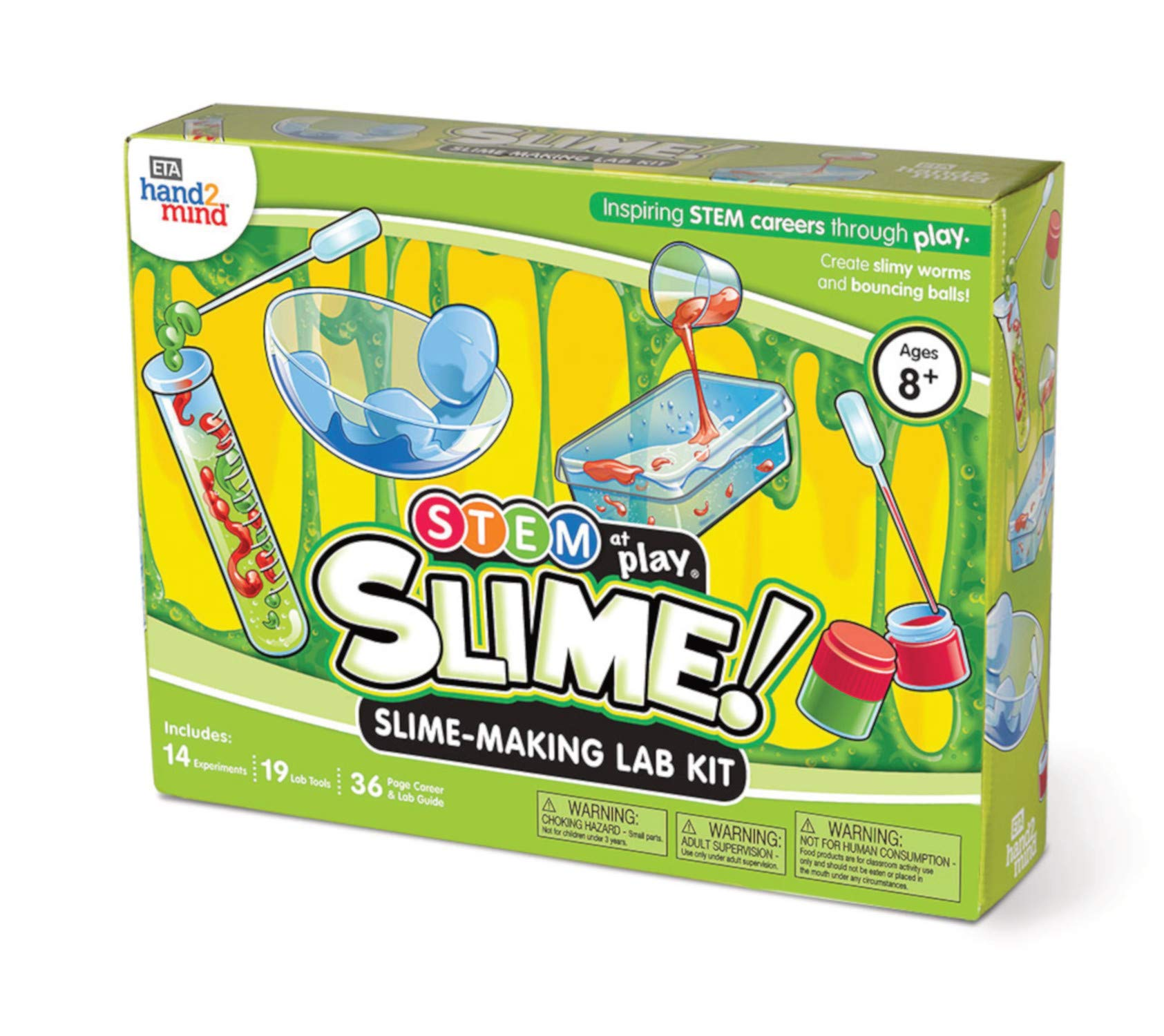 Slime! Science Slime Kit for Kids (Ages 8+) - Build 14+ STEM Career Experiments & Activities | Create DIY Slimy Worms, Bouncing Balls, & More | Educational Toys | STEM Authenticated