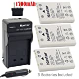 Kastar Battery (3-Pack) and Charger Kit for Nikon EN-EL5, Nikon MH-61 work with Nikon Coolpix 3700, 4200, 5200, 5900, 7900, P3, P4, P80, P90, P100, P500, P510, P520, P530, P5000, P5100, P6000, S10 Cameras