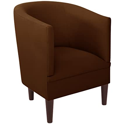 Amazon.com: Skyline Furniture Tub Chair in Duck Chocolate, Brown ...