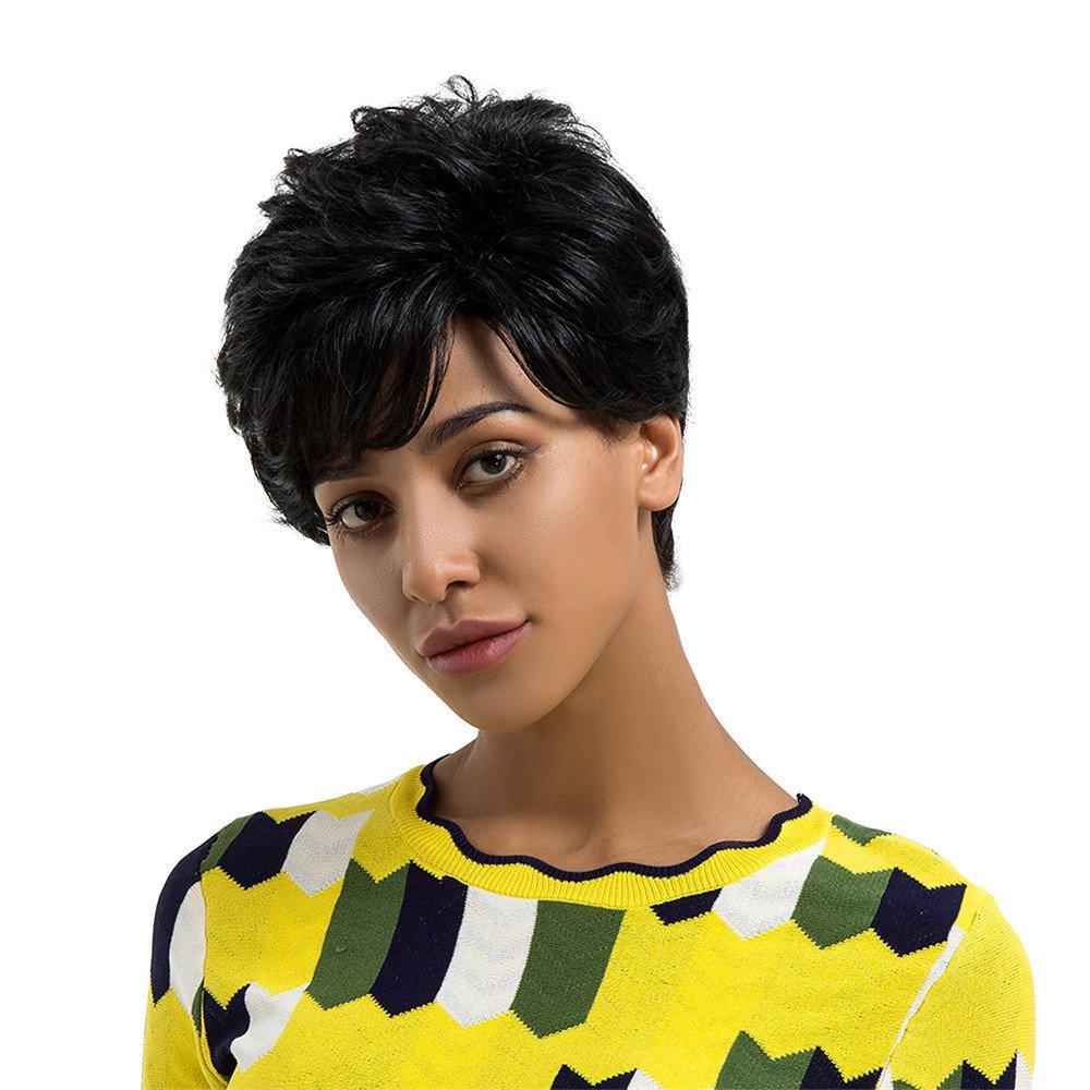 RedBrowm Women Ladies Real Natural Short Straight Hair 4 Wigs Cosplay Full Wig R