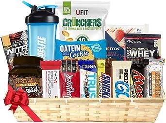 Navidad cesta de regalo Collection (ALTA Proteínas BARRAS+GALLETAS+Proteína Muestras+Proteína Crisp/frituras + Dieta BARRAS + Proteína Propagación + ...