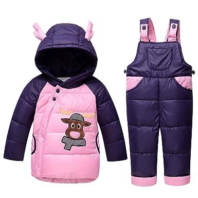 b68855e0fc90 Unisex Infant Toddler Baby Boys Girls Winter Warm Cartoon Down Coat ...