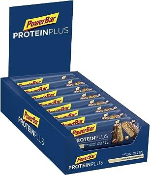PowerBar Protein Plus 30% Cappuccino-Caramel Crisp 15x55g - Barra de alta Proteína + Suero y Proteína de Caseína