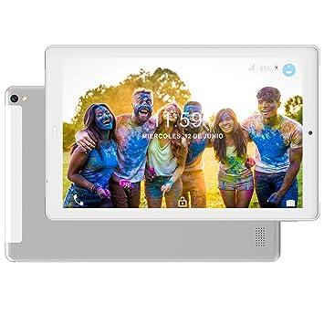 Tablet 10.1 Pulgadas 4G Dual SIM /WiFi Tableta 3GB de RAM 32GB de ROM Android 8.0 Quad-Core Batería 8000mAh Bluetooth/GPS/OTG Tablets(Soporte ...