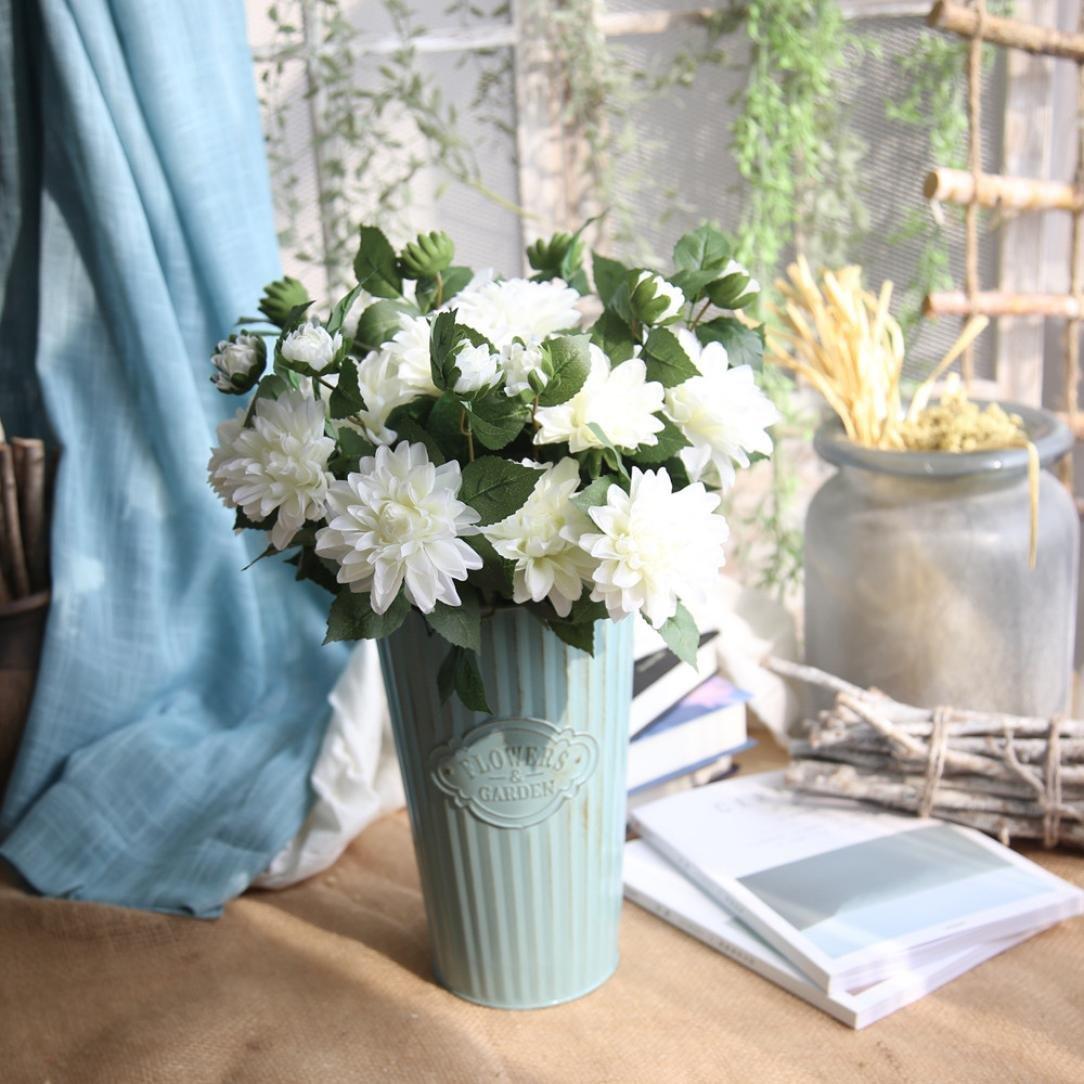 インバーリー 人工シルク ダリアの造花 ウェディングブーケ ブライダル ホームパーティー 装飾 B076PY4FZW H