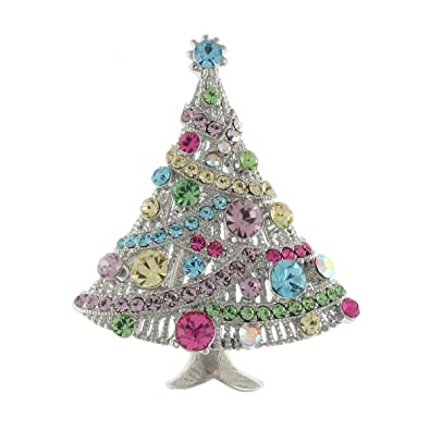 67b543835d1 Brooches Store Multi Swarovski Crystal Christmas Tree Brooch: Brooches  Store: Amazon.co.uk: Jewellery