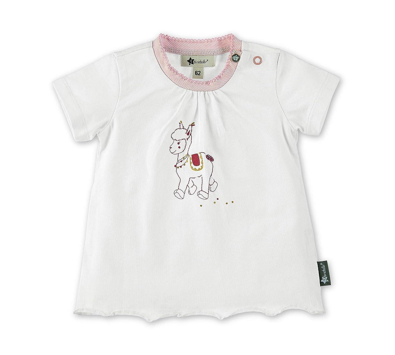 Sterntaler T-Shirt f/ür M/ädchen Niedliches Lama Lotte-Motiv