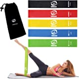 VIMILOLO Resistance Loop Exercise Bands with Instruction Guide, Home Fitness, Natural Latex Workout Bands for Legs and…