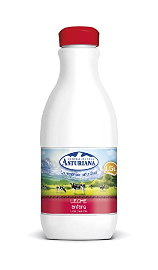 Central Lechera Asturiana - Leche UHT Entera - Botella 1,5 L
