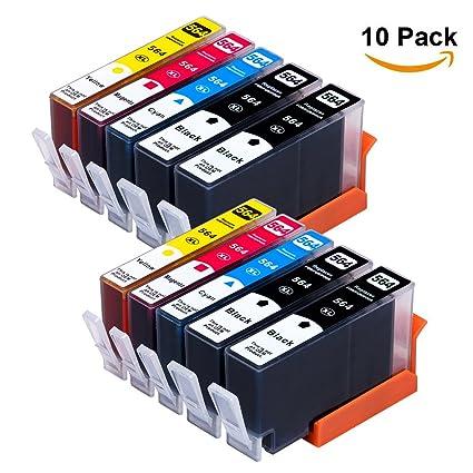 10 Pack Yaza Reemplazo para HP 564 X L Compatible cartucho de ...