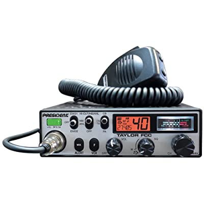 President Taylor FCC 12/24V CB Radio: Car Electronics