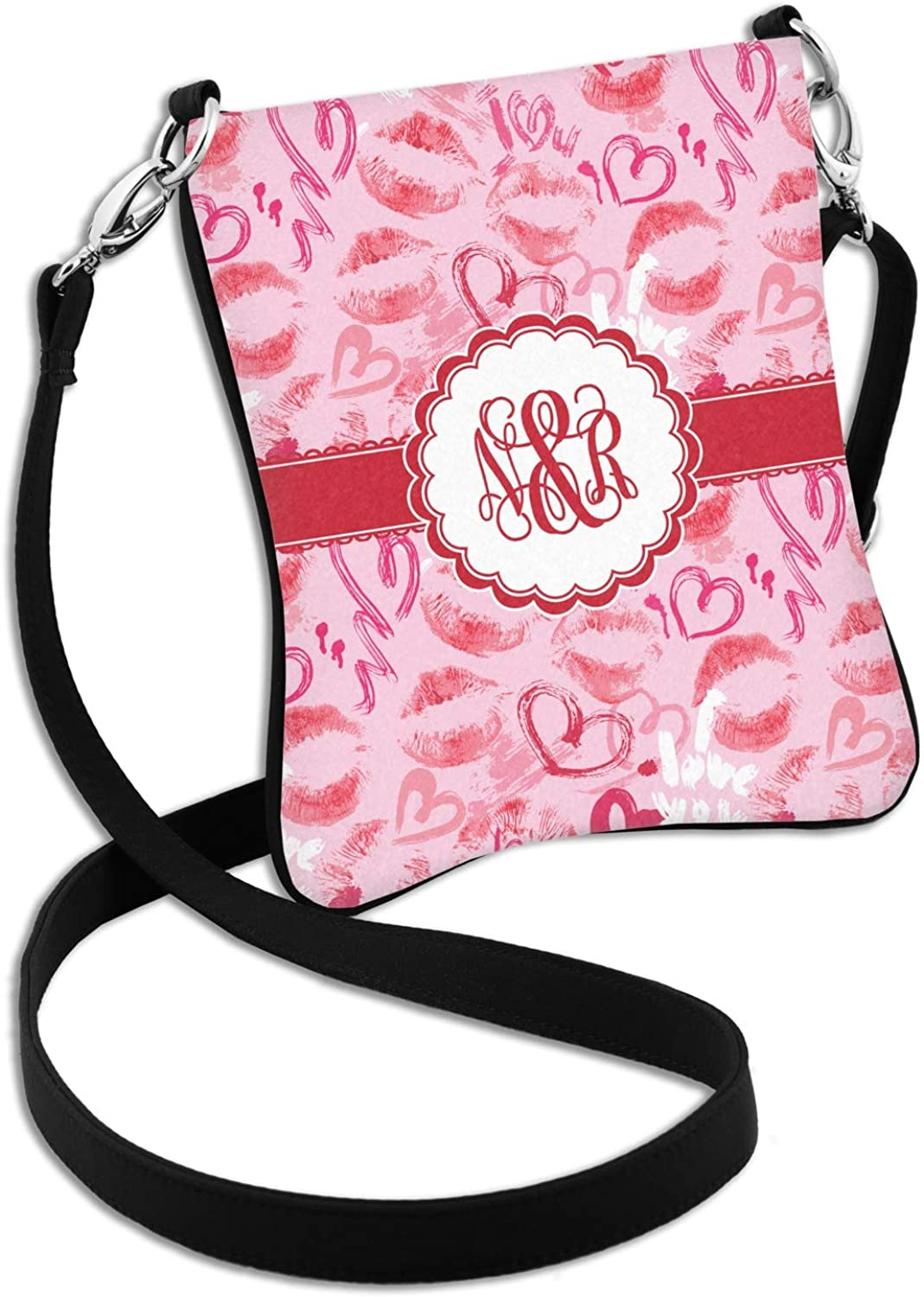 Personalized Lips n Hearts Cross Body Bag 2 Sizes