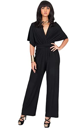 2469528ac3b Amazon.com  KOH KOH Womens Infinity Convertible Wrap Party Cocktail Jumpsuit  Romper Pants  Clothing