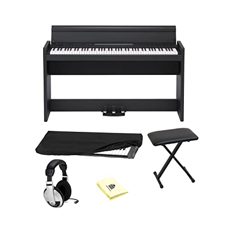 Korg lp-380 88 teclas Real Weighted Hammer Action Grand Piano en color negro con