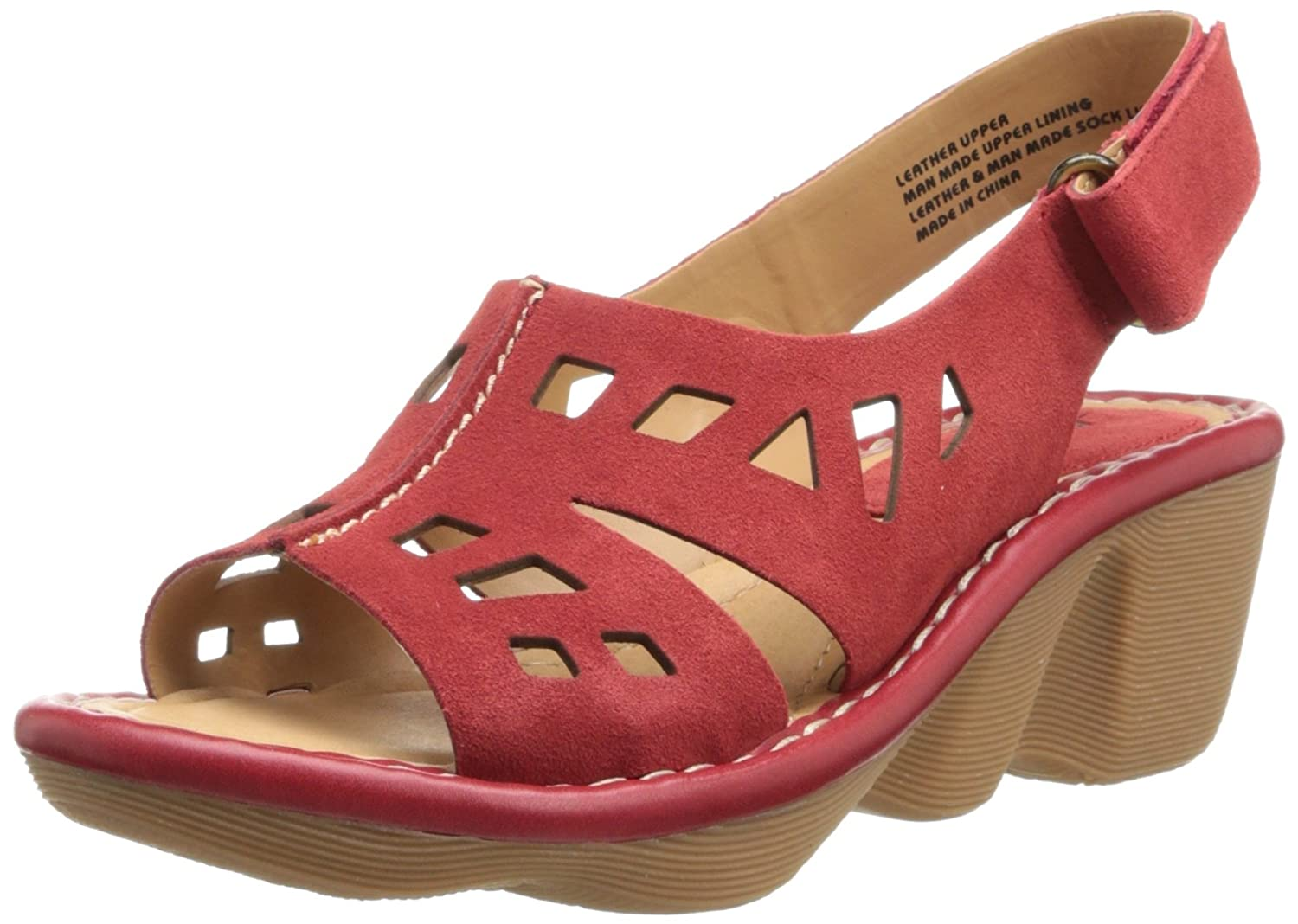 Earth Women's Stargaze Wedge Sandal B00FYMMM0K 6.5 B(M) US|Jazzy Red