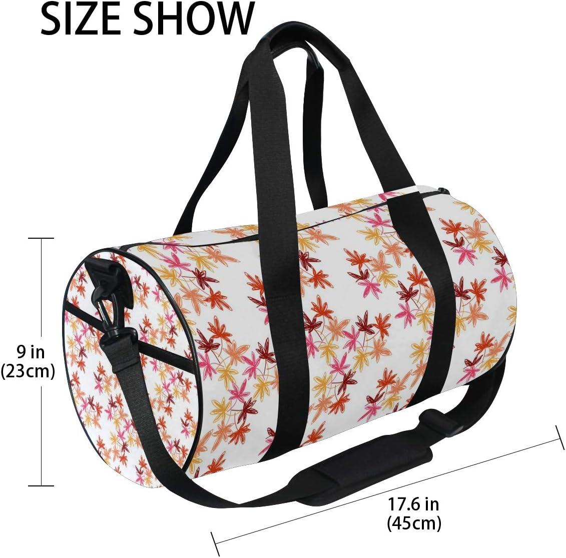 Duffel Bag AUTUMN LEAVES Women Garment Gym Tote Bag Best Sports Bag for Boys