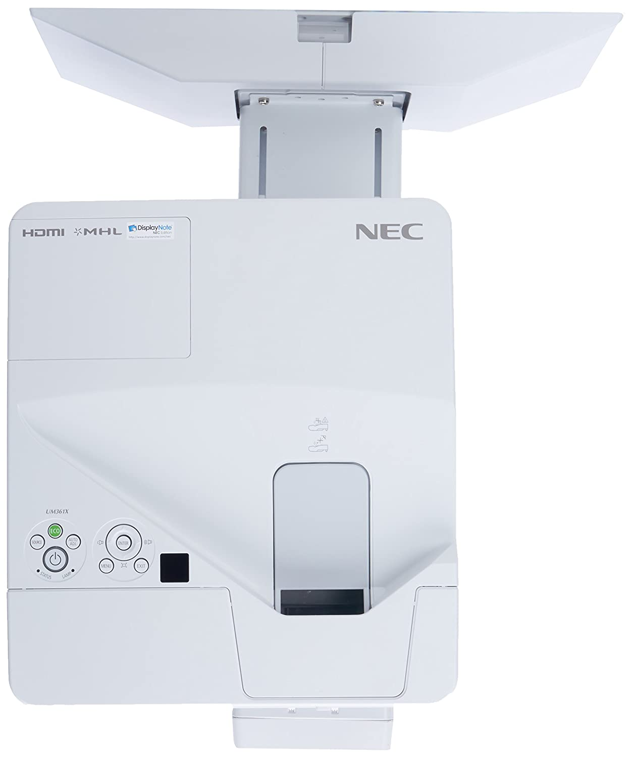 NEC UM361X-WK - LCD projector - 3600 lumens - XGA (1024 x 768) - 4:3 - ultra short-throw lens B00QPHV9HK