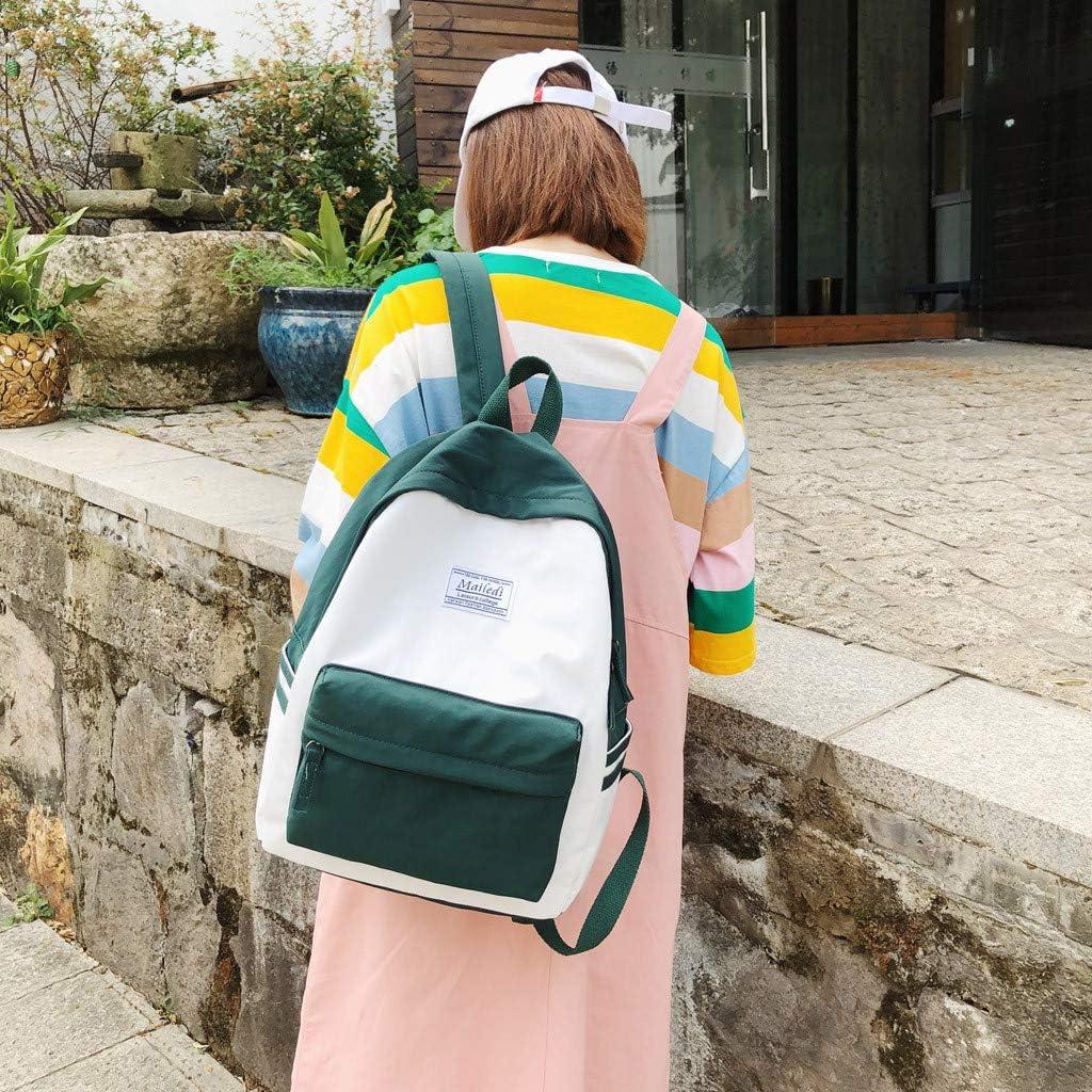Posional Mujer Mochila, NiñAs Bolsos Escolares, Adolescente Daypack, Viaje Mochilas Tipo Casual, Laptop Rucksack PoliéSter Mochila Casual De Nylon Gran Capacidad Color SóLido Impermeable Escolar: Amazon.es: Ropa y accesorios