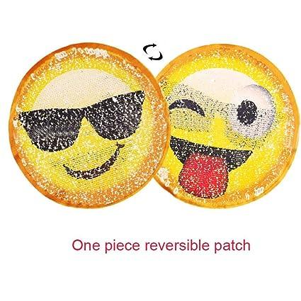 Parches para coser Emoji reversibles con lentejuelas para ...