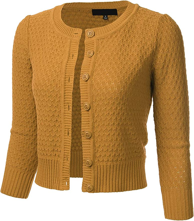FLORIA Women's Cropped Cardigan