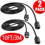 SNES Classic Controller Extension Cable 3M / 10ft (2-PACK), Extension Power Cord for Super Nintendo SNES (2017) and Mini NES Classic Edition (2016)