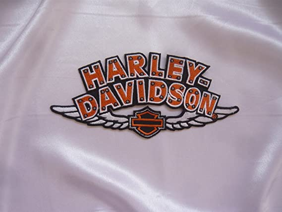 � Parche para planchar Harley Davidson 17 cm x 8 cm águila Eagle Shield Moto Motocicleta Club